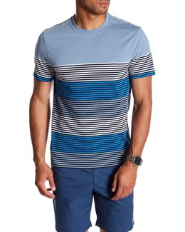 Short Sleeve Engineered Strip Tee