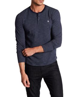 Slub Feeder Long Sleeve Shirt