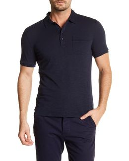 Slub Slim Fit Pocket Polo