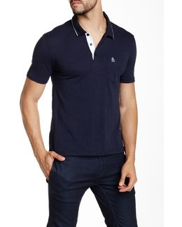 Spread Collar Short Sleeve Polo