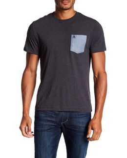 Short Sleeve Chambray Pocket Tee