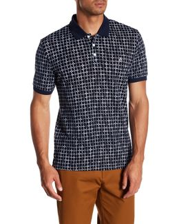 Short Sleeve Printed Slim Fit Polo