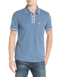 Earl Tm Tipped Pique Slim Fit Polo