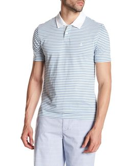 Short Sleeve Stripe Slim Fit Polo