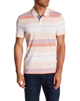 Ombre Stripe Slim Fit Polo