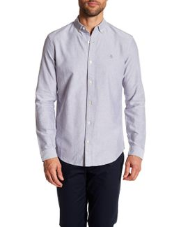 Solid Oxford Slim Fit Woven Shirt