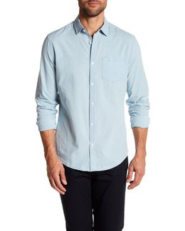 Long Sleeve Chest Pocket Slim Fit Woven Shirt