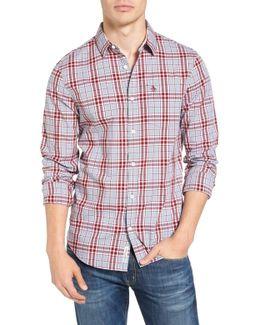 Trim Fit Plaid Woven Shirt