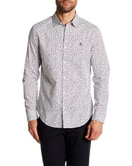 Floral Print Long Sleeve Slim Fit Woven Shirt
