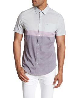 Short Sleeve Colorblock Lawn Shirt