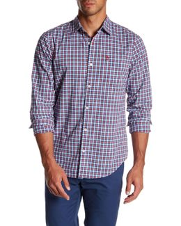 Stretch Mini Plaid Slim Fit Shirt