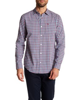 Mini Plaid Long Sleeve Classic Fit Woven Shirt