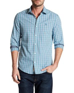 Long Sleeve Checkered Slim Fit Shirt