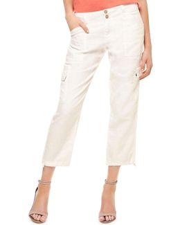 Terrain Linen Crop Cargo Pants