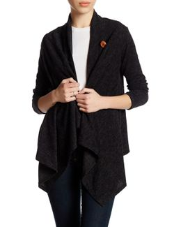 Fleece One Button Cardigan (petite)