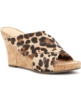 Party Plush Wedge Sandal