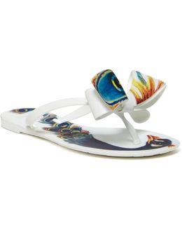Peacock Bow Flip-flop