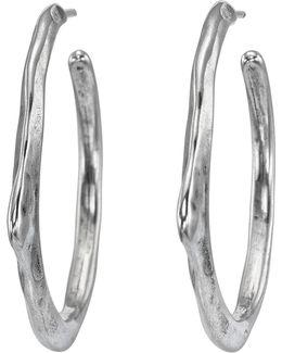 Cyanide Textured C-hoop Earrings