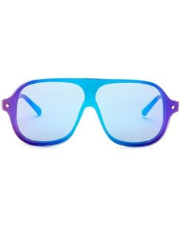 Unisex Mirrored Navigator Sunglasses