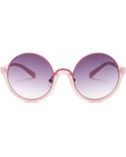 Women's Semi-rimless Round Sunglasses