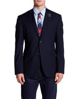 Solid Two Button Notch Lapel Jacket