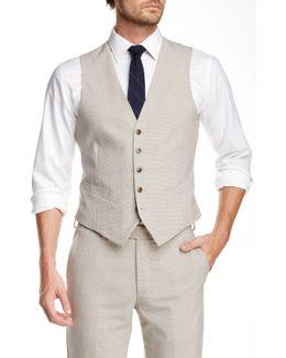 Taupe Five Button Vest