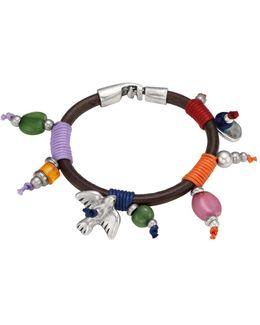 Boo Beaded Leather Bracelet