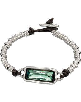 Full Speed Rectangular Swarovski Beaded Bracelet