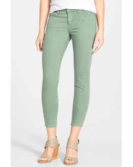 'alex' Colored Stretch Twill Ankle Skinny Jeans