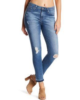 Ella High Rise Released Hem Skinny Ankle Jeans