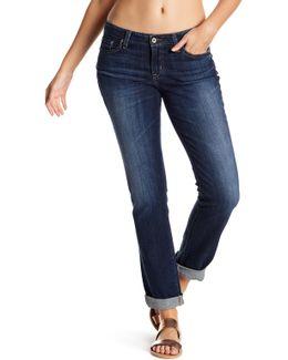 Kate Mid Rise Straight Leg Jeans