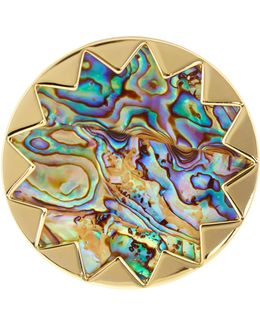 Starburst Abalone Cocktail Ring - Size 6