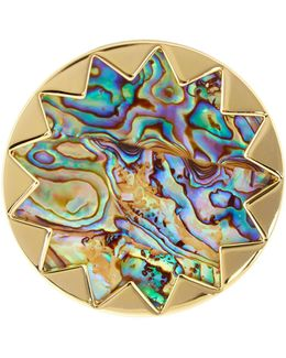 Starburst Abalone Cocktail Ring - Size 7