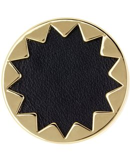 Sunburst Genuine Leather Ring