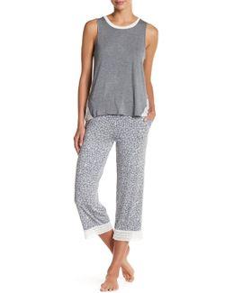 Print Capri Pajama Pant