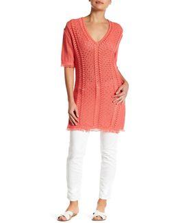 Open-knit Tunic Dress