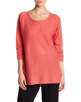 Ballet Neck Cashmere Tunic Sweater