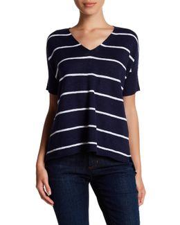 Organic Linen & Cotton Stripe Sweater (petite)