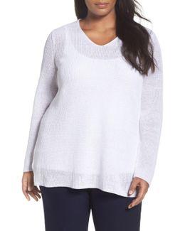Organic Linen Rib Knit Pullover