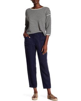 Tencel & Linen Crop Pant