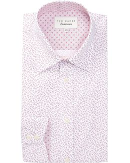 Filmore Printed Trim Fit Dress Shirt