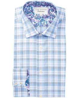 Larsing Plaid Trim Fit Dress Shirt