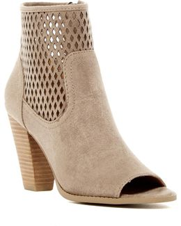 Rajin Perforated Peep Toe Bootie