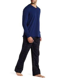 Long Sleeve Shirt & Print Pant Set