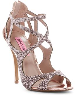 Raqui Glitter Cutout Sandal