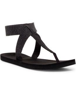 Cushion Moon T-strap Sandal