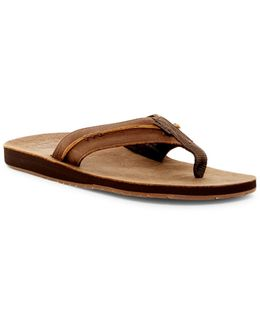 Marbea Leather Flip Flop