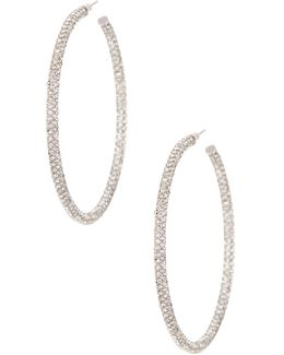 Large Micro Pave Hoop Earrings