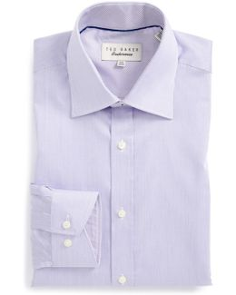 'oncore' Trim Fit Micro Stripe Dress Shirt