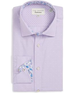 Endurance Trim Fit Dot Dress Shirt